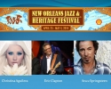 New Orleans Jazz Festival Headliners Eric Clapton, Bruce Springsteen, Christina Aguilera